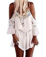 SUNNOW® Bohème Robe Tunique Loose combinaison jumpsuit short pour femme