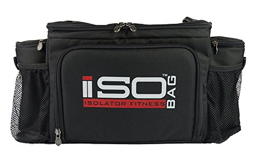 2nd Gen Isobag 6 Meal Management System/Black/Black/Lunch Bag/Insulated Lunch Box-Isolator Fitness - 1