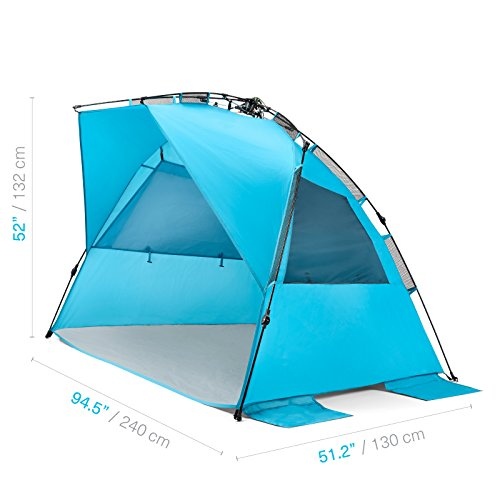 Pacific Breeze Easy Up Beach Tent Deluxe Xl Camp Stuffs
