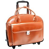 McKleinUSA GLEN ELLYN 94360 Orange Leather Detachable-Wheeled Women's Case