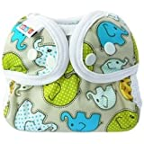 Bummis Simply Lite Cloth Diaper One Size Cloth Diaper (Elephant Tales (limited edition))