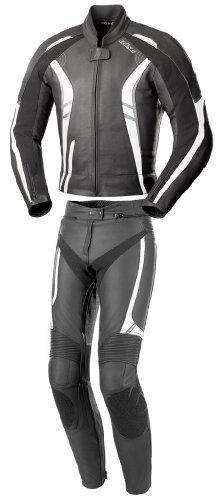Büse Jerez Damen Lederkombi 2tlg., Farbe schwarz-grau-weiss, Größe D42