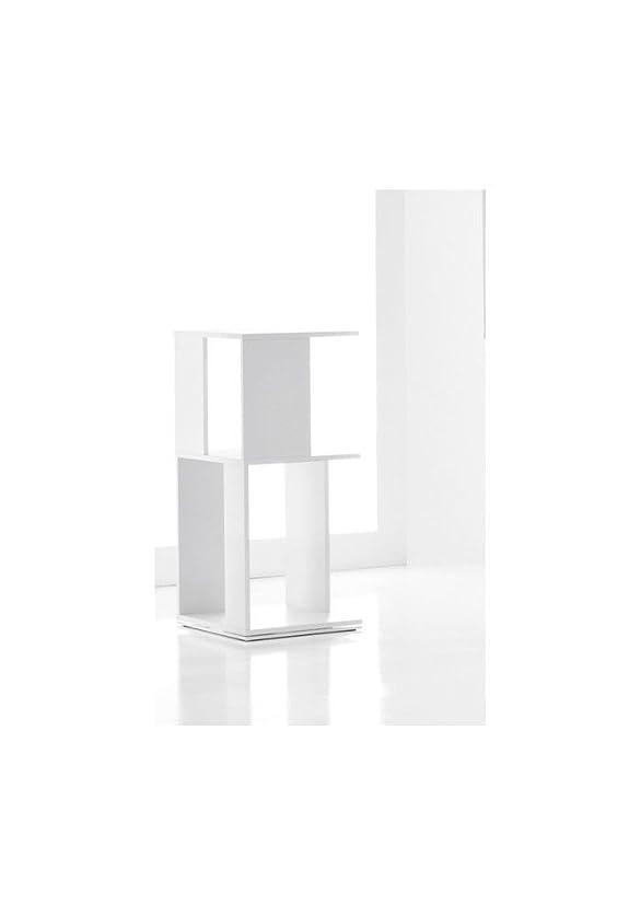 BONALDO libreria Cubic 2 bianco laccato opaco fissa in mdf ufficio salotto LI70