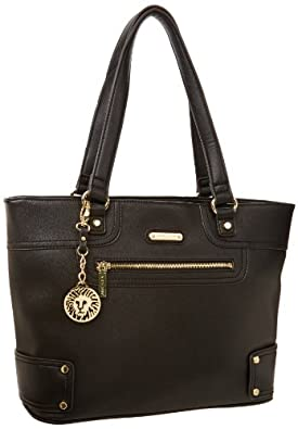 Anne Klein Jazzy Geos Large 60269154 Shoulder Bag, Black