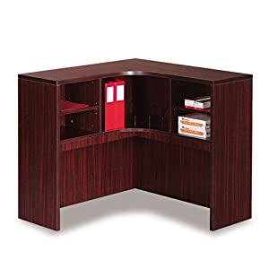 Alera VA294242MY Valencia Series 42 by 42 by 36-Inch Corner Open Storage Hutch, Mahogany