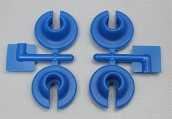 RPM Lower Spring Cups for HPI Savage, Savage-X, E-Savage and most Losi & Traxxas Shocks, Blue