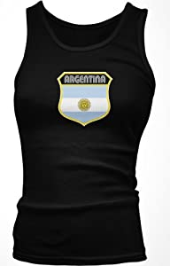 Buy Argentina Crest Retro International Soccer Juniors Tank Top, Argentine National Pride Juniors Boy Beater by Ghast