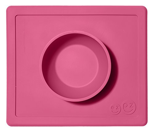 ezpz-Happy-Bowl-Pink-One-piece-silicone-placemat-bowl