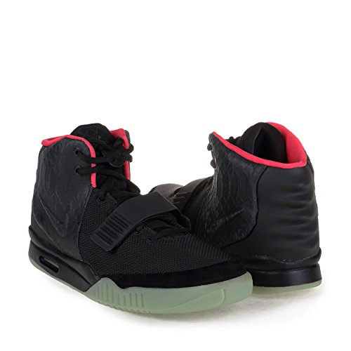 c4e48a531 Nike Mens Air Yeezy 2 NRG Black Solar Red Leather - Lim Nail daert