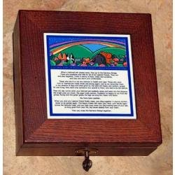 Rainbow Bridge Rosewood Pet Urn