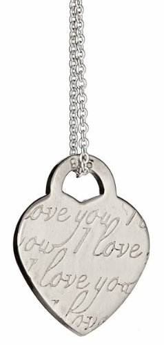 Designer Inspired Notes I Love You Pendant 18