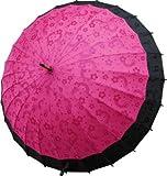 絵が浮出る不思議傘 桜に音符 つつじ色に黒 新色登場!