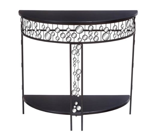 Image of Elegant Metal Mirror Console Table (B006I5FCU4)