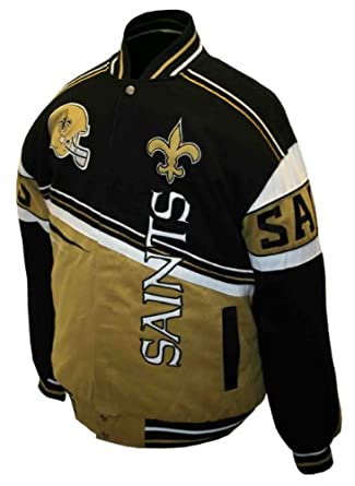 NFL Mens New Orleans Saints 1st and 10 Cotton Twill Jacket by MTC Marketing, Inc