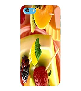 ColourCraft Lovely Doll Design Back Case Cover for APPLE IPHONE 5C