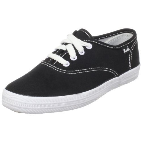 Keds Original Champion CVO KT34120, Sneaker ragazza, Nero (BLACK/WHITE), 35.5