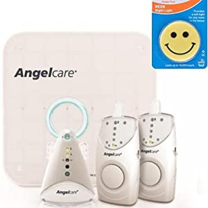 Angelcare AC605-2PU - Movement and Sound Monitor with 2 Parent Units and Night Light