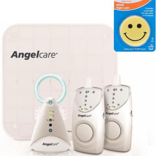 Angelcare Ac605-2Pu - Movement And Sound Monitor With 2 Parent Units And Night Light front-510911