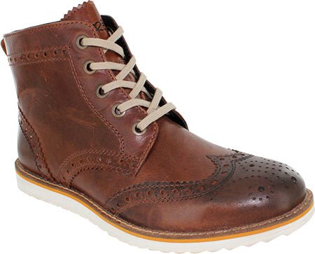 Crevo Men'S Boardwalk Wing Tip Boot, Brown Leather, 9 M Us