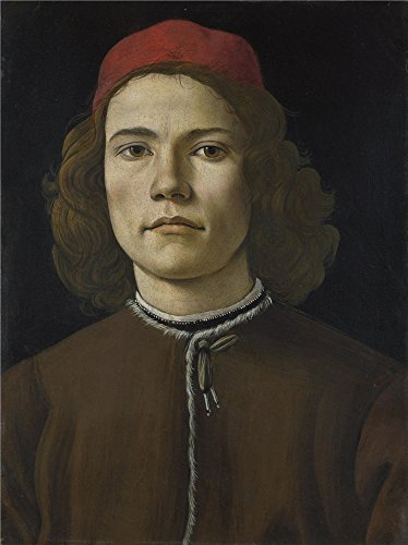 Oil Painting 'Sandro Botticelli Portrait Of A Young Man ' Printing On Perfect Effect Canvas , 16 X 21 Inch / 41 X 54 Cm ,the Best Hallway Artwork And Home Gallery Art And Gifts Is This Amazing Art Decorative Canvas Prints