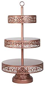 victoria collection 39 3 tier rose gold cupcake stand dessert tower cake wedding. Black Bedroom Furniture Sets. Home Design Ideas