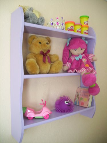 Childrens Purple Bedroom Shelves, Shelf, Bookcase, Toy Storage
