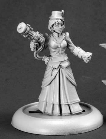 Reaper Miniatures 59009 Savage Worlds Series Mini Mad Scientist, Female Miniature
