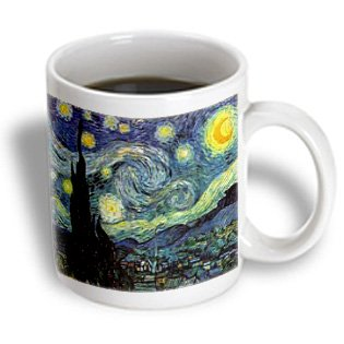 3Drose Mug_119441_1 Photo Of Most Famous Van Gogh Painting Starry Night Ceramic Mug, 11-Ounce