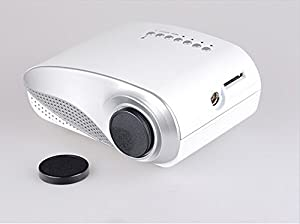Mini Shop® est 200 lumens Home Theater Cinema 3D projector LED Multimedia Portable Video Pico Micro Small Mini Projector Full HD with HDMI USB SD AV VGA TV Interface for PC & Laptop(White) by Mini shop