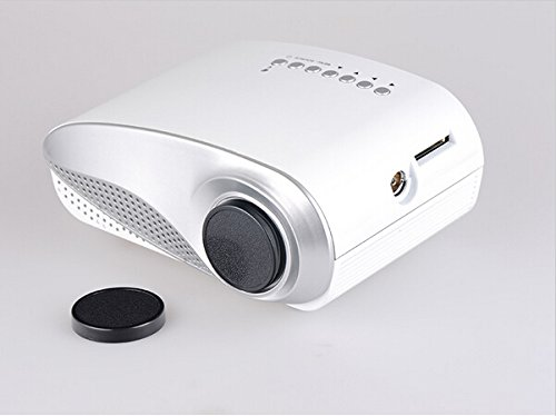 Aketek Newest Lcd Home Theater Cinema Projector Led Multimedia Portable Video Pico Micro Small Mini Projector Full Hd With Hdmi Usb Sd Av Vga Tv Interface For Pc & Laptop(White)