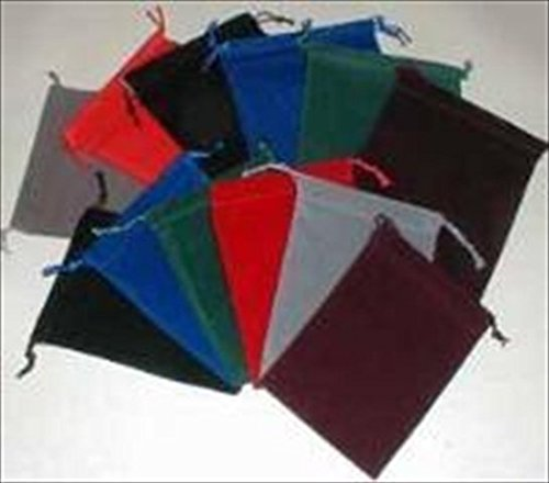 Chessex Manufacturing 2398 Large Suedecloth Dice Bag, Black