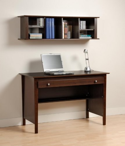 Buy Low Price Comfortable 2pcs Computer Desk and Wall Hutch Bookcase – Espresso (B0031TGPQK)