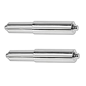 2pc Replacement Chromed Plastic Toilet Paper Roller