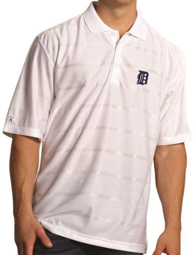 "Detroit Tigers Antiqua MLB ""Tone"" Performance Polo Shirt Camicia - White"