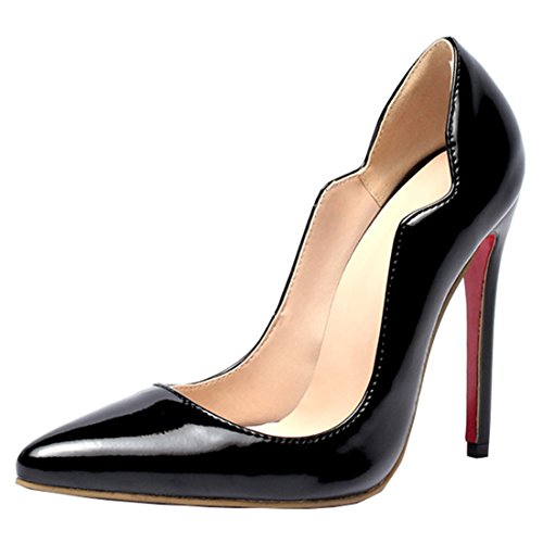 ye shoes 12cm lack high heels spitze stilettos patry pumps mit roter sohle schuhe. Black Bedroom Furniture Sets. Home Design Ideas
