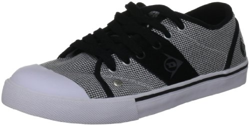 Dunlop Men's 1987 Panel Fabric Black/White/Grey Trainer 510-022011 12 UK