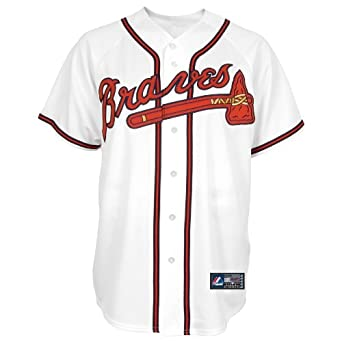 MLB Atlanta Braves Tim Hudson White Home Baseball Jersey Spring 2012 Mens by Majestic