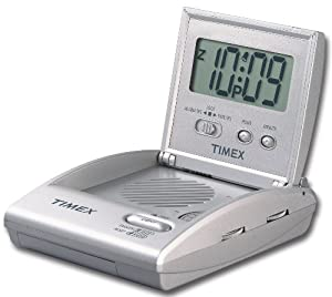timex t315sx travel alarm clock radio silver electronics. Black Bedroom Furniture Sets. Home Design Ideas