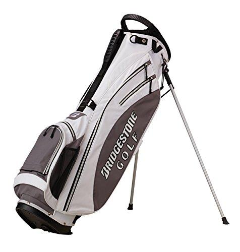 BRIDGESTONE, Sacca porta mazze da golf con supporti, Bianco (White), 45 x 30 x 100 cm, 75 ls