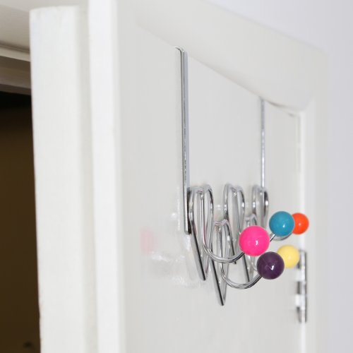 Premier housewares 0509730 appendiabiti da porta cromato - Ganci appendiabiti da porta ...