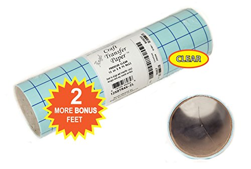Angel crafts 12 by 8 39 premium clear transfer paper tape for Angel craft transfer tape