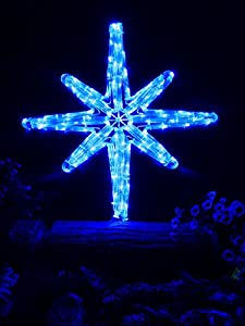 Star of Bethlehem-Blue; Christmas Lights; Christmas decoration yard lights