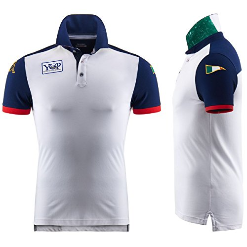 Polo Shirt - Portofino Polo Ycp - White-Blue Marine - XXXL