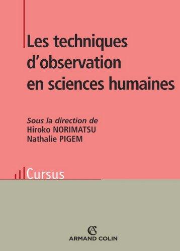 Les techniques d'observation en sciences humaines (Psychologie)