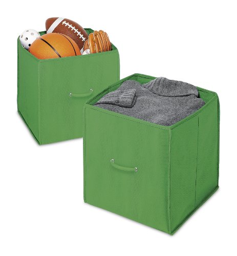 Whitmor 6351-909-2-GRN Collapsible Cube, Green, 2-Pack