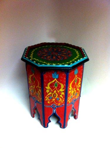 Marokkanischer-Beistelltisch-Kalif-rot