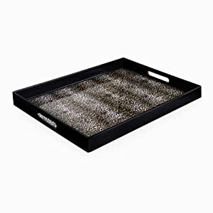 Accents by Jay Leopard Skin Rectangle Tray by Accents Jay