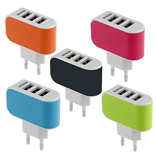WireSwipe™ 3USB Quick Charger Adapter 5V 3.1A For Smartphones, Tablets, Music Players (Multi Color)- 1 Year Warranty