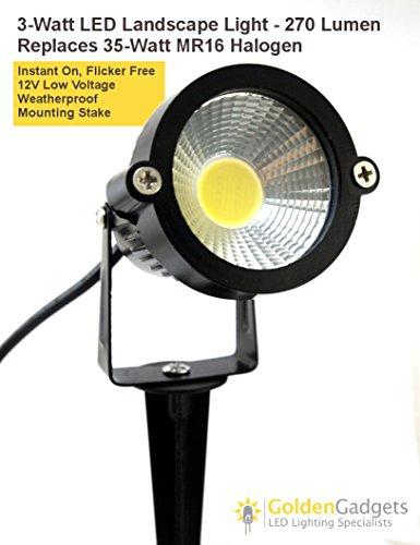 12V Low Voltage 3-Watt Led Landscape Spot Light - Warm White - 2Pack