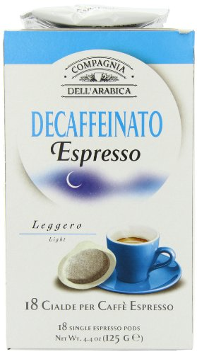 Choose Compagnia Dell'arabica Pure Arabica Decaffeinato ESE Pods 7 g (Pack of 18) by Cotsh